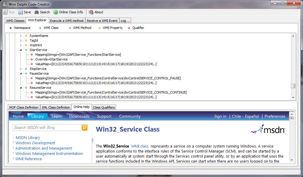 WMI Delphi Code Creator screenshot