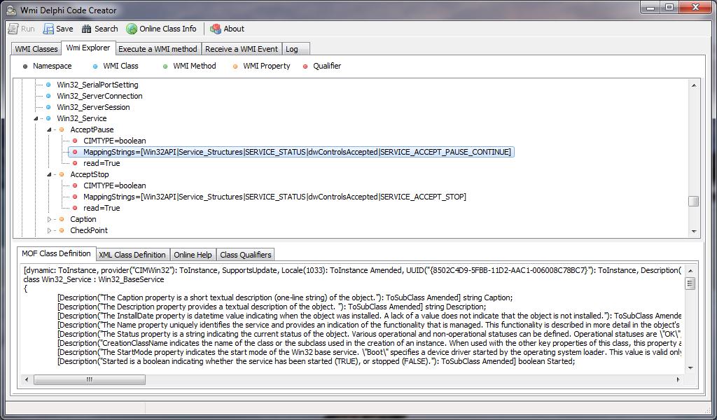 WMI Delphi Code Creator | The Road to Delphi