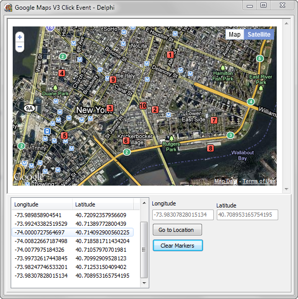Using the Google Maps API V3 from Delphi – Part III Getting the