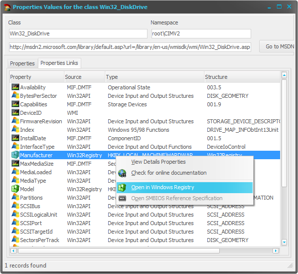 How obtain the source of the WMI Data | The Road to Delphi