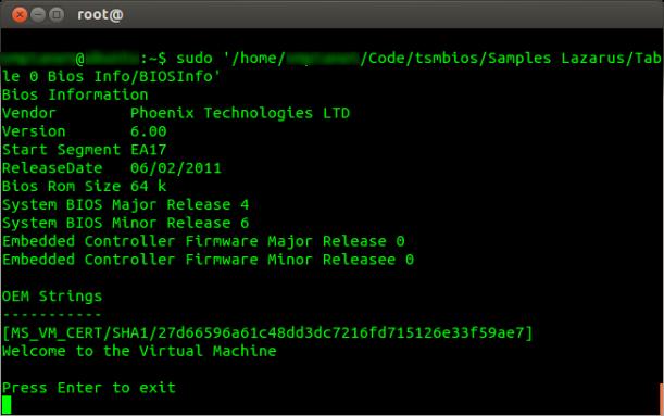 Linux_TSMbios